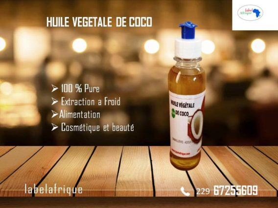 Pure Huile de coco bio au Bénin à Cotonou