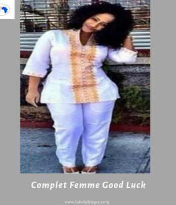 Complet tunique et pantalon femme – Good luck
