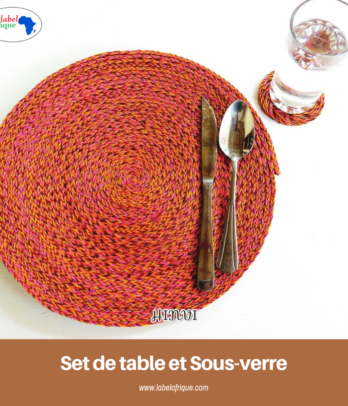 Ensemble set de Table et Sous-verre
