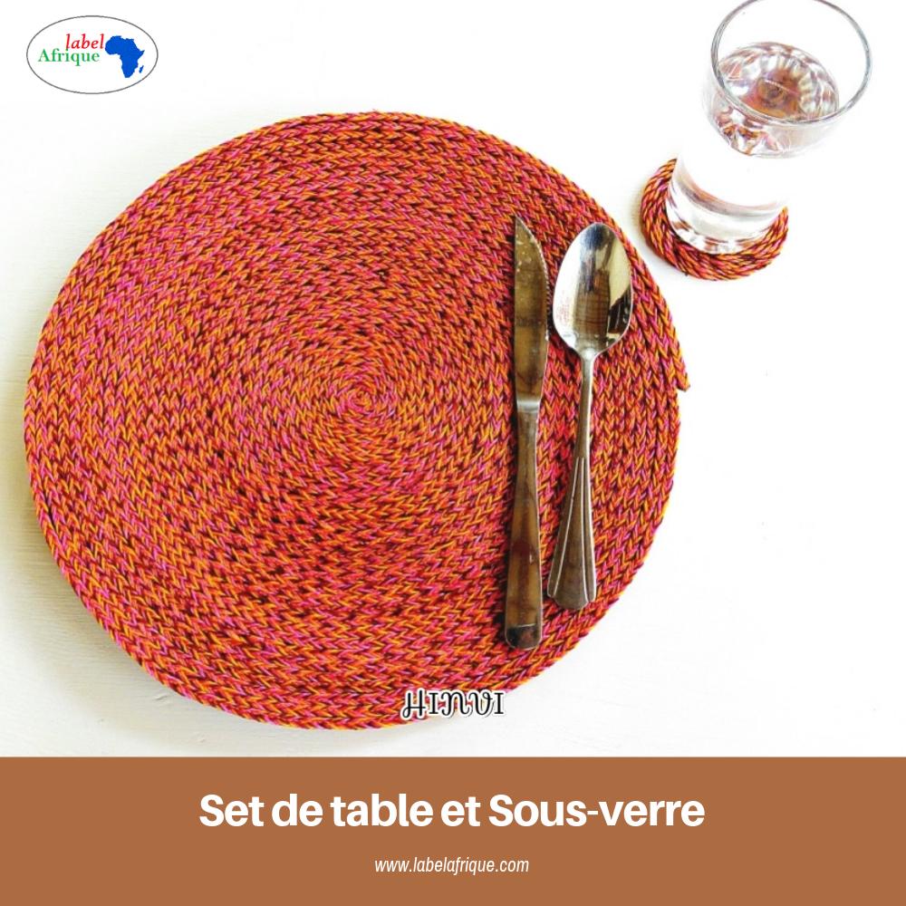 Ensemble Set De Table Et Sous Verre
