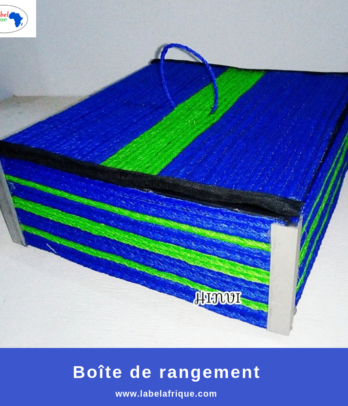 Boîte de rangement artisanale