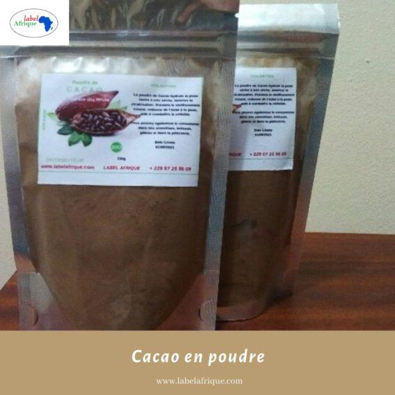 Cacao en poudre disponible en gramme et kg
