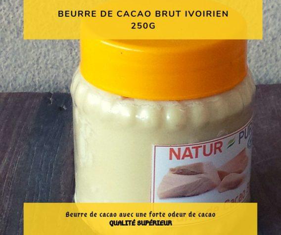 beurre de cacao pure de cote ivoire