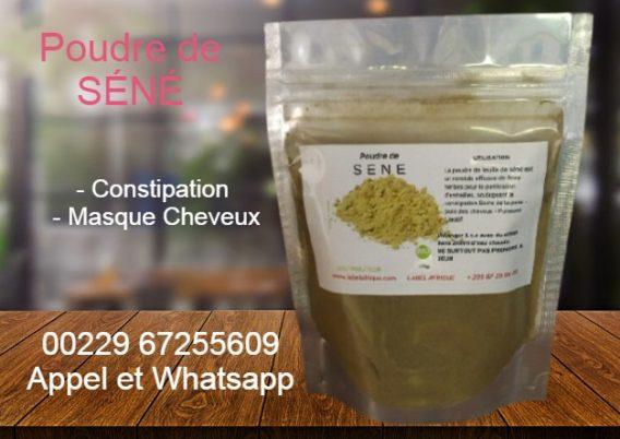 poudre de séné au Bénin, Abidjan, Paris et Kinshasa